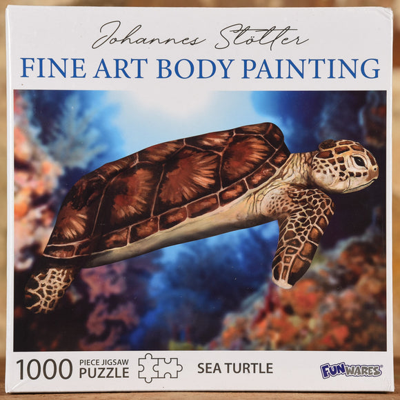 Sea Turtle - Fine Art Body Painting 1000 Piece Puzzle