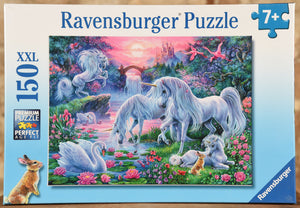 Unicorns in Sunset Glow 150 Piece Puzzle