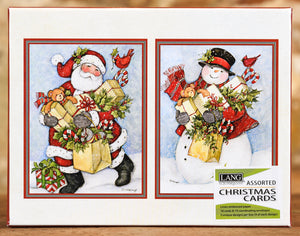 Boxed Cards - Candy Cane Snowman & Santa Set