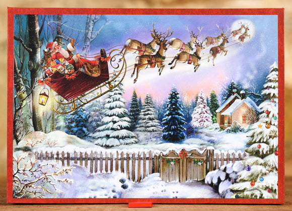 Boxed Cards - Here Comes Santa