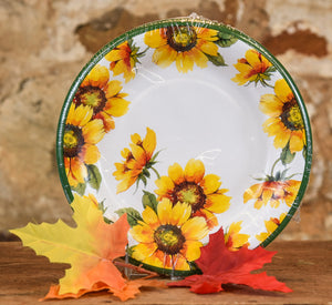 "Paper Plates - 8"" Colorful Sunflowers"