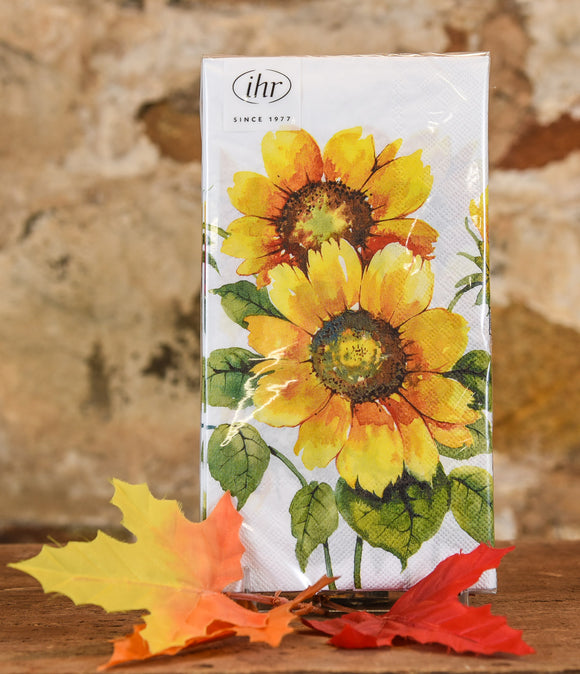 Paper Napkins - Guest Towel Colorful Sunflowers