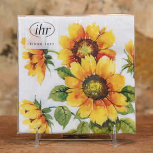 Paper Napkins - Beverage Colorful Sunflowers