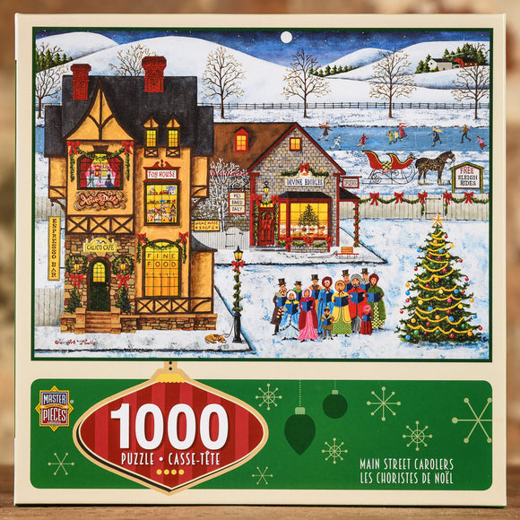 Main Street Carolers 1000 Piece Puzzle