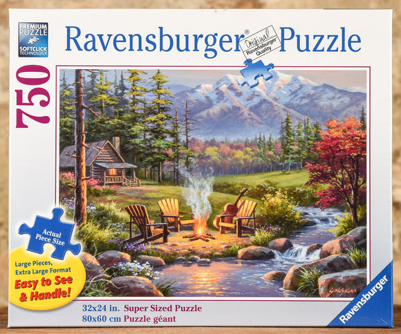 Riverside Living Room - 750 Piece Puzzle - Large Format