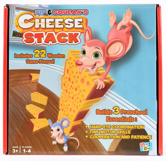 Pip & Squeak's Cheese Stack