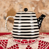 Striped Teapot With Heart