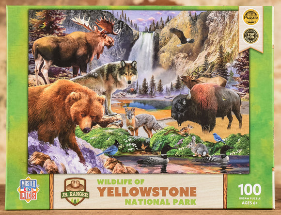 Wildlife of Yellowstone - Jr. Ranger 100 Piece Puzzle