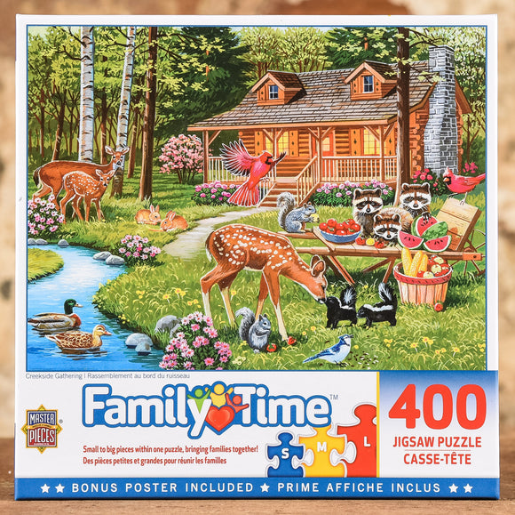 Creekside Gathering - Family Hour 400 Piece Puzzle
