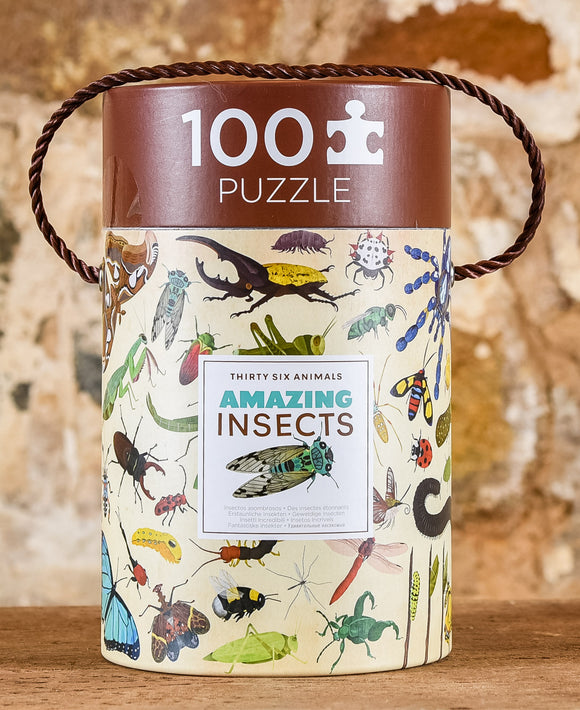 Thirty Six Animals 100 Piece Puzzle - Amazing Insects