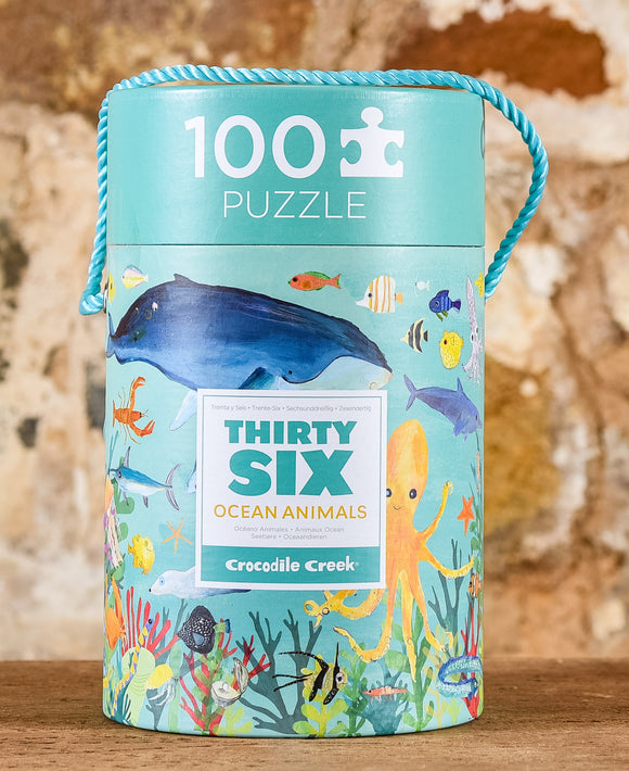 Thirty Six Animals 100 Piece Puzzle - Ocean Animals