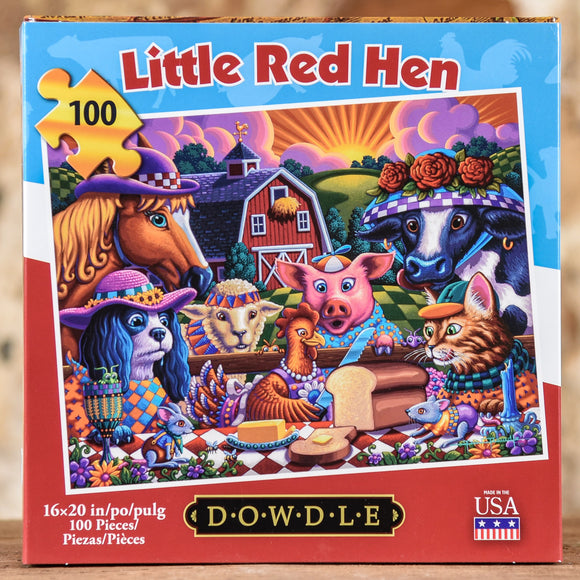 Little Red Hen 100 Piece Puzzle