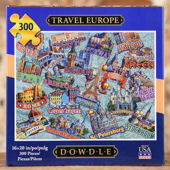 Travel Europe 300 Piece Puzzle