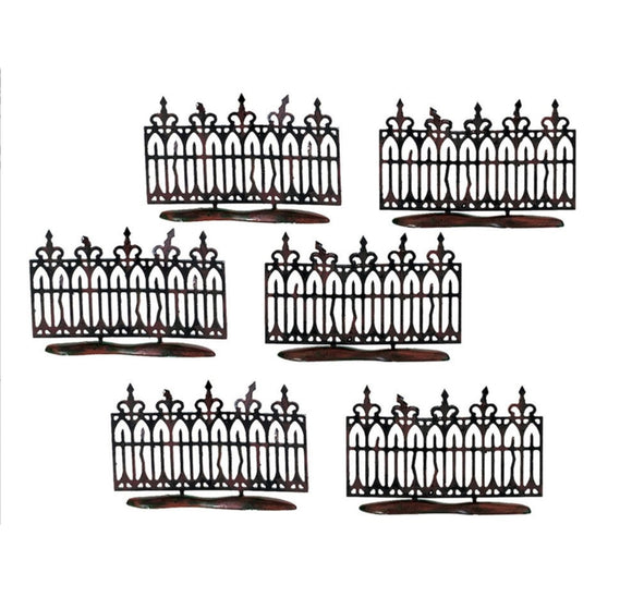 Spooky Wrought Iron Fence - Set of 6