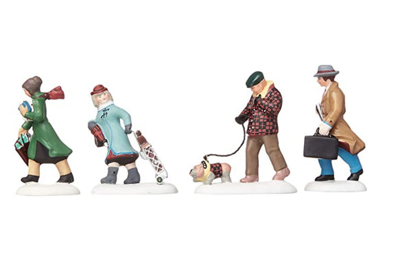 Busy City Sidewalks - Set of 4