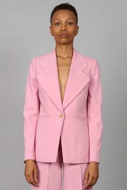 DRAGON ROSE TULIP LAPEL BLAZER