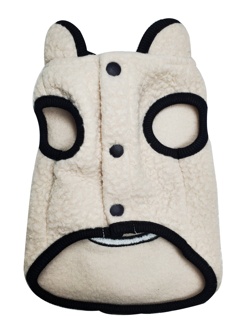 Dog fleece Jacket with Smiley Face - DogClothe.com