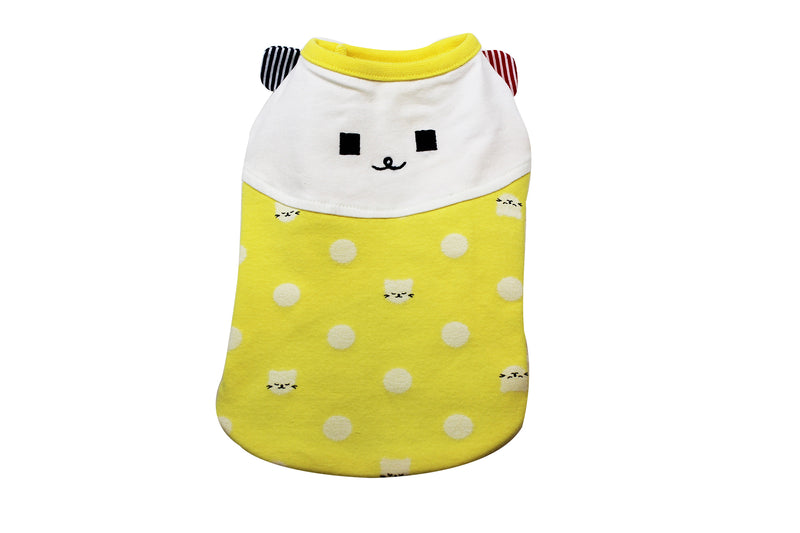 Polka-dot dog shirt - pink and yellow - DogClothe.com
