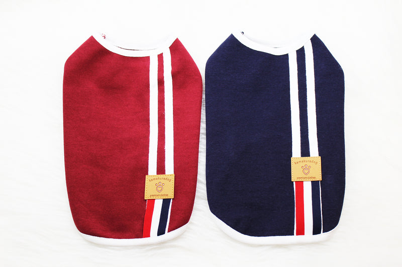 Dog shirt in maroon and navy blue - DogClothe.com