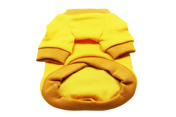 Doggie hoodie- Yellow and Orange - DogClothe.com