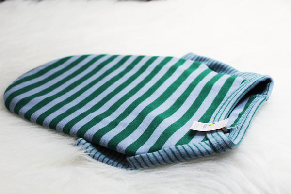Long sleeved dog shirt in teal and brown stripe - DogClothe.com