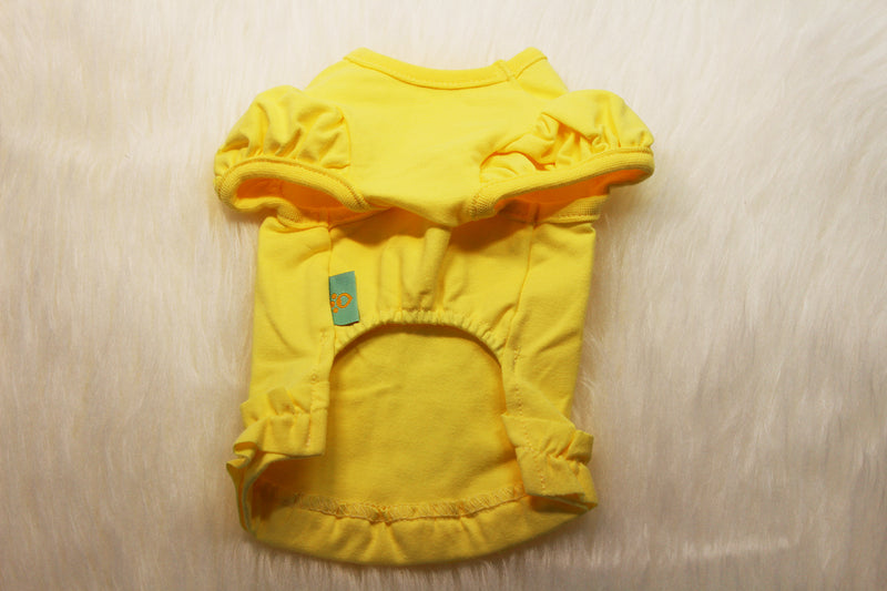 Dog shirt in yellow, pink, and teal - DogClothe.com