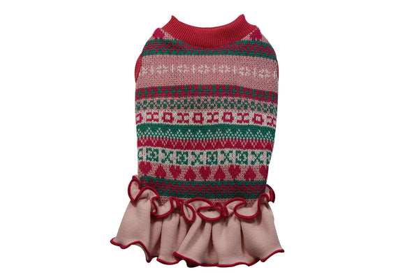 Cute traditionally patterned dog sweater