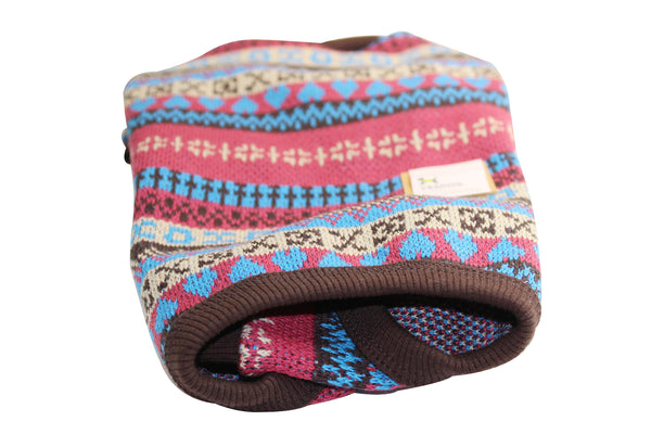 All in one cute traditionally patterned dog sweater w/ skirt
