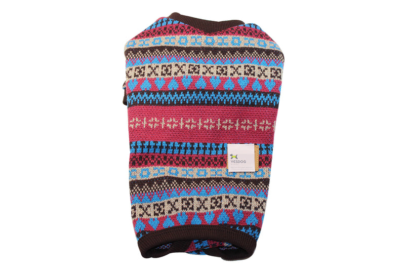 All in one cute traditionally patterned dog sweater w/ skirt - DogClothe.com