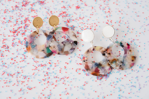 party like its 1984 drop earrings from Leo and Lynn Jewelry birthday capsule collection statement earrings
