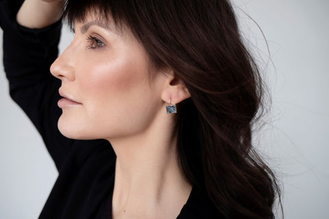 stella drop earrings from leo and lynn jewelry handmade resin jewelry casual everyday style pittsburgh