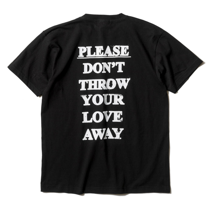 Please Don't Throw Your Love Away Back Print T-Shirt