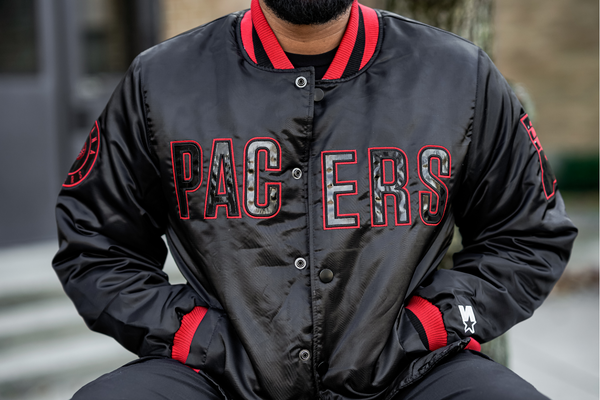 Hang Time x Starter Indiana Pacers Jacket - Black/Red