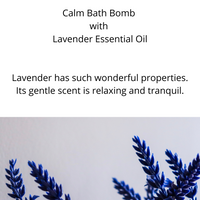 Calm Bath Bomb with Lavender Essential Oil