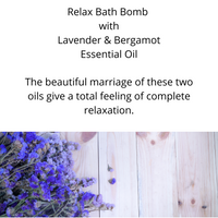 Relax Bath Bomb with Lavender and Bergamot Essential Oil