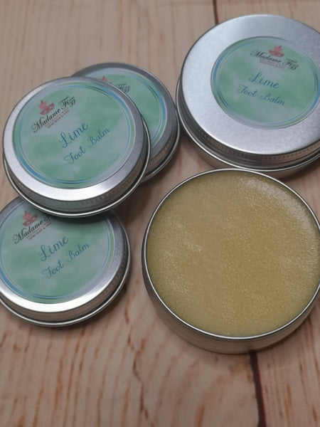 Lime essential oil foot balm