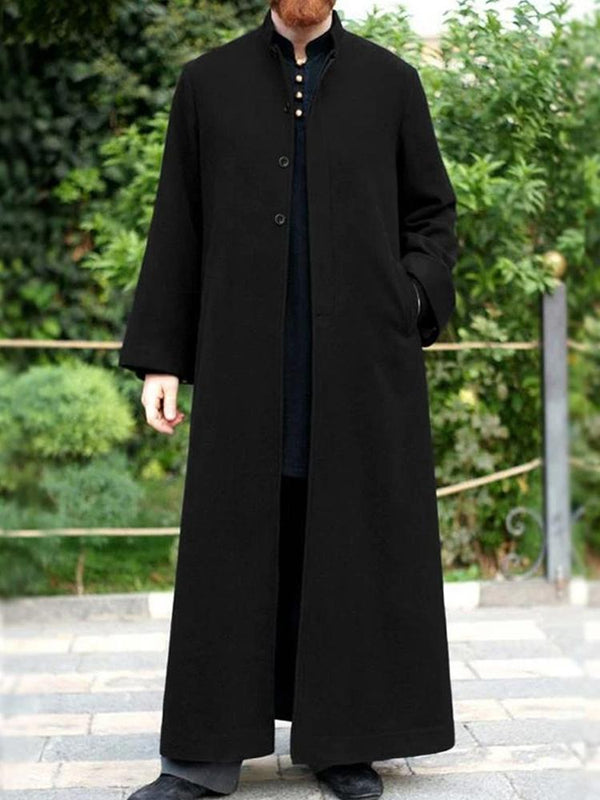 Mens Winter Warm Long Sleeve Casual Baggy Full Length Coat Jackets