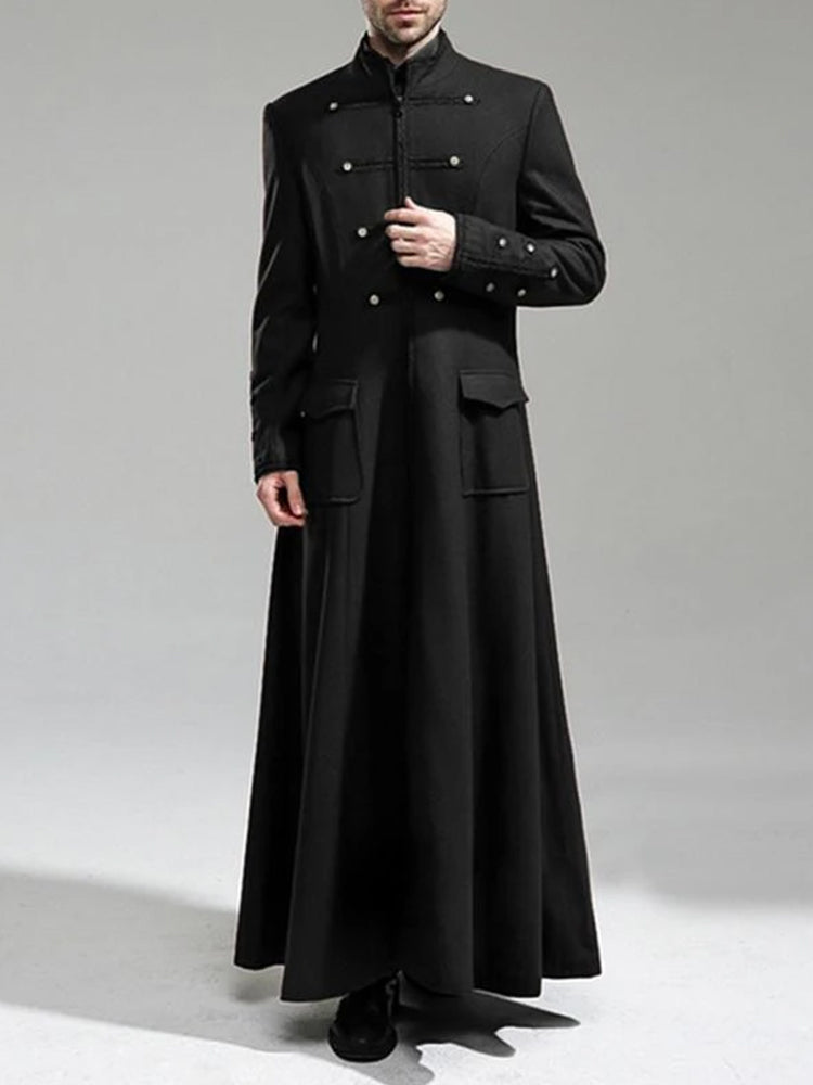 Men's Retro Double-breasted Long Coat