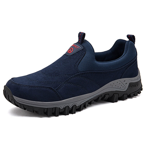 Men Suede Non Slip Waterproof Slip On Casual Hiking Sneakers