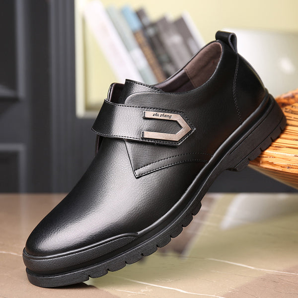 Men Leather Non Slip Metal Buckle Business Casual Formal Shoes
