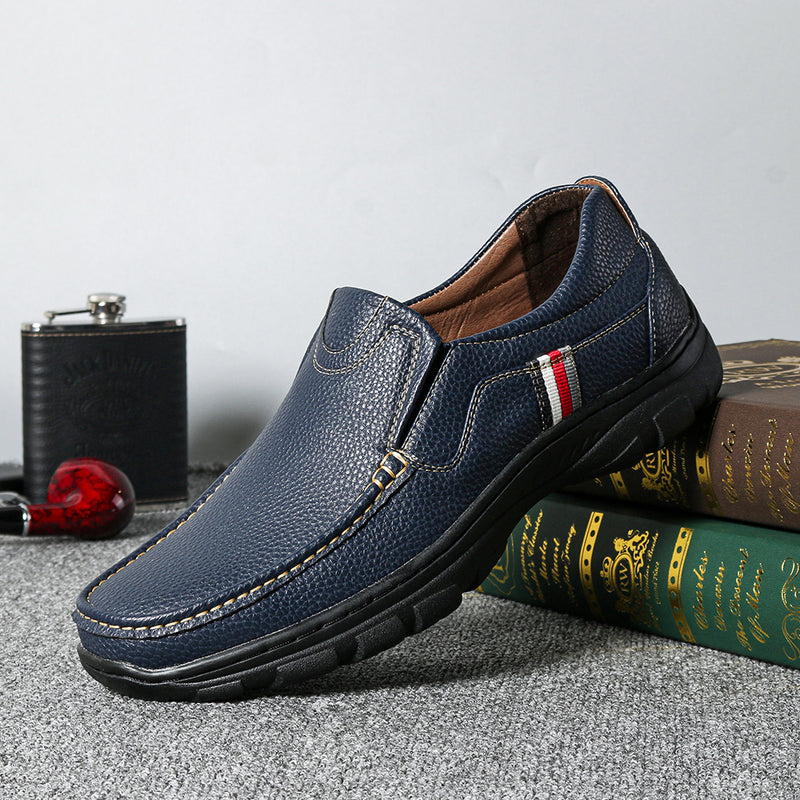 Menico Men Non Slip Slip On Soft Casual Leather Shoes