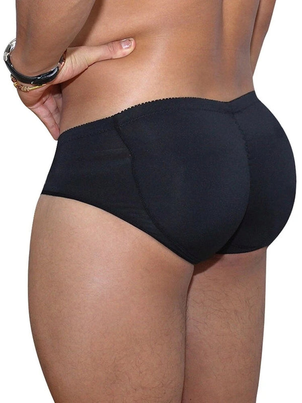 Men Sexy Butt Lifting Padded Underwear Stitching Butt Shaper Breathable Enhancing Briefs Shapewear