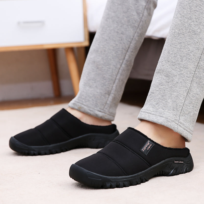 Men Warm Waterproof Non Slip Comfy Soft Home Slipper Boots