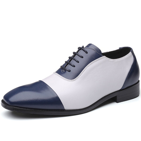Men Leather Splicing Non Slip Business Casual Formal Shoes