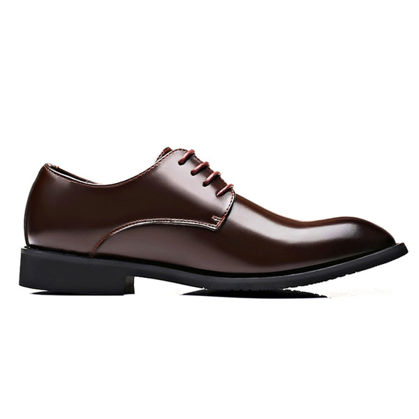 Men Classic Pointed Toe Lace Up Business Casual Formal Casual Shoes