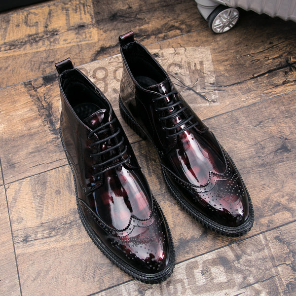 Men Brogues Artificial Leather Slip Resistant Business Formal Shoes SKUG24191