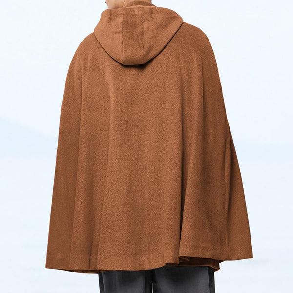 Mens Chinese Style Poncho Cloak Jackets Cape Cardigan Outwear