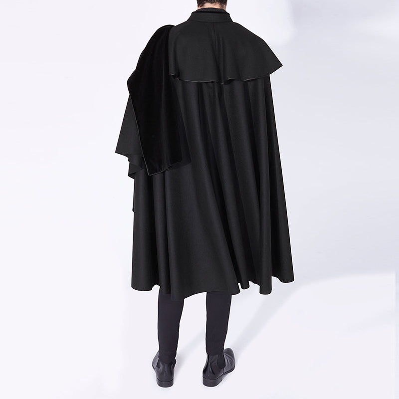 Mens Mid-length Stand-collar Cloak Overcoats SKUG20229