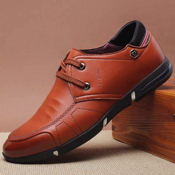 Men Microfiber Leather Comfy Non Slip Business Casual Shoes