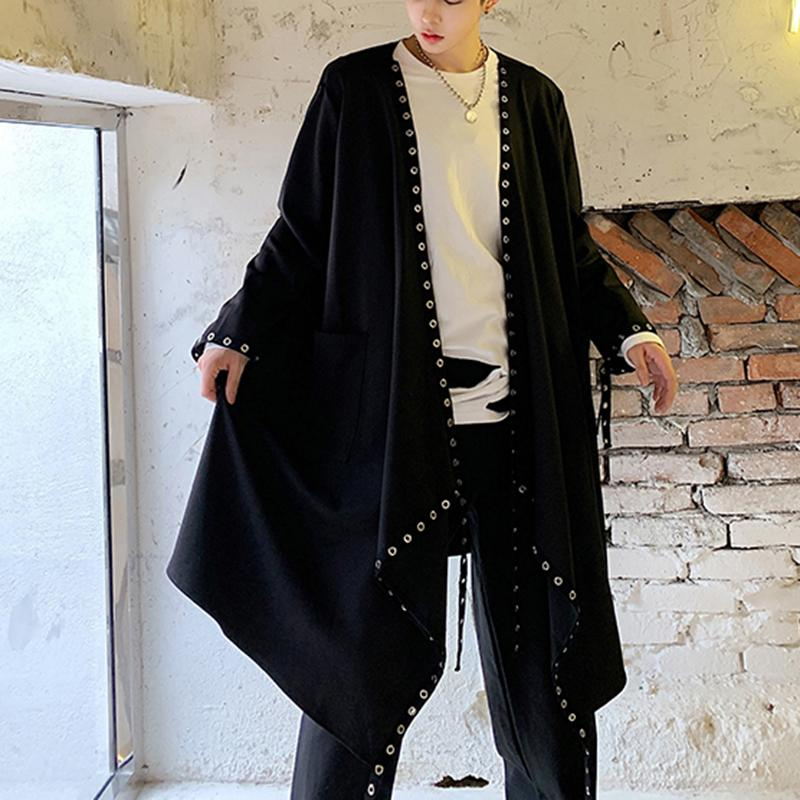 Men's Gothic Coat Tail Coat Steampunk Jacket Punk Loose Cape
